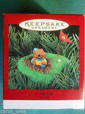 Hallmark 1996 I Dig Golf Gopher n Hole on The Greens Clip-On Ornament-Nib+pt