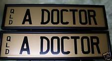 Number plate,personalized,A DOCTOR,rare,QLD,7 letter Prestige