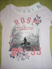 Mädchen H&M kurzarm long T Shirt Rose rosa Baumwolle Gr.122/128 - NEU