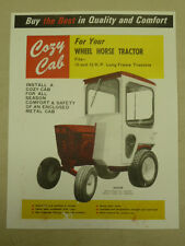 VINTAGE COZY CAB SPEC SHEET for WHEEL HORSE 10 & 12 HP LONG FRAME TRACTORS