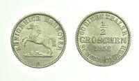pcc1715_4) German States Hannover 1/2 Groschen 1858 B
