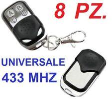 8 Telecomando Universale clone copia. Cancello automatico,cancelli,433Mhz 433