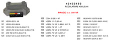 40400190 TEKNOETRE REGOLATORE TENSIONE per PIAGGIO VESPA PX 125 11-17