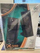 Logitech X-140 Pair Computer Speakers Desktop Laptop Mp3 Sound System Sealed Box