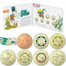 POST FREE - 2019 MR SQUIGGLE UNCIRCULATED SET OF 1c, 2 x $1, 4 x $2 (7) COINS