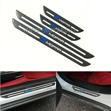 4Pcs MOPAR Carbon Fiber Car Door Welcome Plate Sill Scuff Cover Panel Sticker