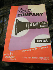 Partition Twist Company Bill Ivory Charabia Twist Music Sheet Rhodania 1964