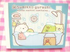 San-X Sumikko Gurashi Bath Shower Time Mini Memo Pad / Japan Stationery 2015