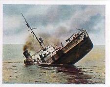 German Sinking minesweeper Baltic Sea Deutsches Heer WWI WELTKRIEG 14/18 CHROMO