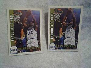 2-1992 SHAQUILLE O'NEAL NBA HOOPS ROOKIE BASKETBALL CARD LOT #442,orlando magic