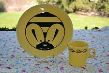 FIESTA Bumble Bee DINNER PLATE only SUNFLOWER YELLOW 1ST new
