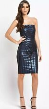 NWT Lipsy Black Fitted Stretch Sequin Evening Cocktail Party Club Dress Uk 8
