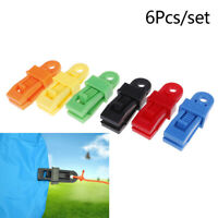 6pcs//set Tents Wind Rope Clamp Awnings Outdoor Camping Plastic Clip Tents he SPU