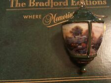 Thomas Kinkade Bradford Editions Heirloom Ornament Lite Cover Porterfield Tea