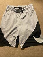 Mens Nike Gray Black Swoosh Basketball Shorts Medium M