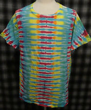 Amazing 1970s Xl Hanes Tie-Dye T-Shirt Psychedelic Cosmic Colorful Surreal Vtg