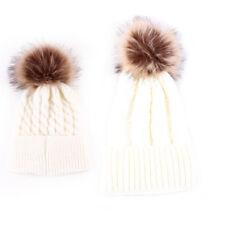 Toddler Kids Women Baby Family Infant Winter Warm Crochet Knit Hat Beanie Cap