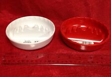Red or White Ashtray Burn Resistant Safety Cigar Cigarette Made Of Melamine New