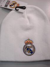 Strick-Mütze/Beanie weiss  Real Madrid  Fussball Fanartikel