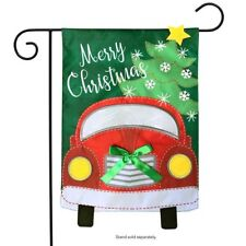 "Christmas Truck Applique Garden Flag Holiday 12.5"" x 18"" Briarwood Lane"