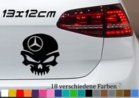 MERCEDES Aufkleber Totenkopf 13x12cm AMG Skull Stern Skin Car Tuning Sticker JDM