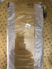 Wamsutta Dream Zone King Pillowcases - Set of 2 - 1000 Thread Count/Grey Stripe