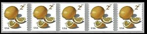 #5256 2018 2c Meyer Lemons Strip/5 - MNH