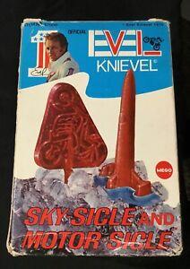 Vintage 1974 MEGO Evel Knievel Frozen Ice Pop Set Skycycle Motor-Sicle Sky-Sicle