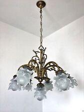 Antik Deckenlampe Kronleuchter Messing Deckenleuchte7 fl Ø65 cm im Jugendstil