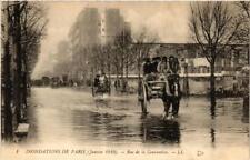 CPA PARIS Rue de la Convention INONDATIONS 1910 (605681)