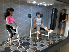 barbie doll  GYM weight bench and boxing bag for ken doll