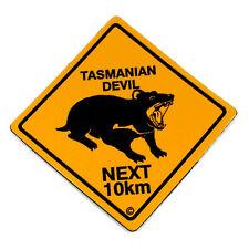 Fridge Magnet Australia Made Tasmanian Devil Next 10km Roadsign Souvenir NEW