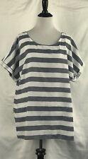 Women's Short Sleeve Summer Stripe T-Shirt Casual Blouse Round Neck Shirt Tops
