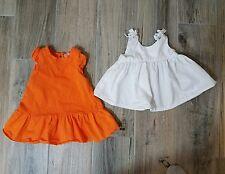Baby Girl 6 Months Carosello Boutique Dresses  Orange White Summer Lightweight
