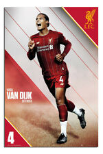 """Liverpool FC Van Dijk 2019 - 2020 Season Poster  24x36"""" Official"""