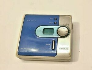 *UNTESTED* SONY WALKMAN MZ-N420D DIGITAL MUSIC PLAYER MINIDISC MD NET GRAY BLUE
