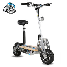Electric Scooter 1600W 48V / Wooden Deck/ Lighting / Big Knobbly Wheels