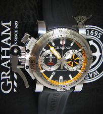 Graham Chronofighter Oversize Diver Turbo Steel Mens Watch 2OVES.B15A