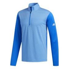 adidas Golf Light Weight UPF 1/4 Zip Top (Glory Blue - XL)