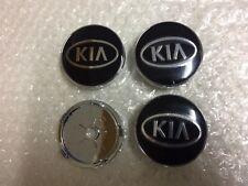 KIA Wheel Center Caps Alloy Emblem Badge Center Hub Cap Set 60mm Black/Silver