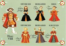 POSTCARD - Henry VIII and His 6 Wives Fun card also a Great Teaching Aid - L@@K