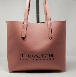 Coach Highline Crossgrain Leather Light Blush Tote Bag 55199