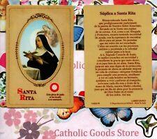 Santa Rita - Suplica a Santa Rita - Spanish - Relic Paperstock Holy Card