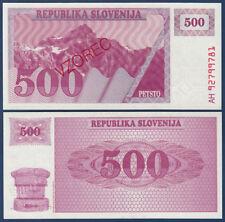 Eslovenia/Slovenia 500 tolarjev specimen (1992) UNC p.8s1