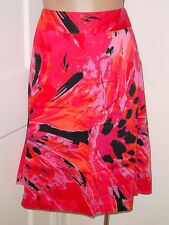 Lane Bryant Womens Plus 24 A-line color Splash Red Pink Black Orange Skirt