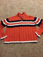 The Children's Place Toddler Boys Black White Orange Striped Sweater Size 4 XS
