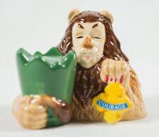 Wizard of Oz Magnetic Cowardly Lion and Courage Badge Salt & Pepper Shaker Set