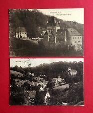 2 x AK LIEBSTADT in Sa. 1917 Schloss Kuckuckstein und Ortsansicht    ( 41139