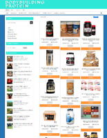 FULLY STOCKED BODYBUILDING PROTEIN WEBSITE WITH 1 YEARS HOSTING EASY TO RUN