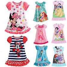Kids Girls Disney Princess & Minnie Mouse Cartoon Dress Vest Skirt Clothes 2-10Y